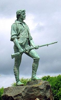 Looked at this every single day of my life until I moved to OH,  Minuteman statue, Lexington, MA