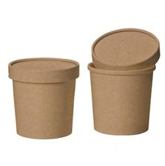 8oz Paper Biodegradable Food Storage Pots - Pack of 25 - see https://www.littlecherry.co.uk/Picnics-And-Food-Packaging/Natural-Kraft-Food/Soup-Pot-With-Lid---12oz---25-Pack.Html?cPath=215