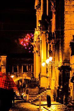 Catania, via Crociferi. Sicily