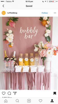 Bubbly bar bridal shower