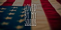 Loved By My Soldier Vinyl Decal Window Decal Car by CGAINSTUDIO