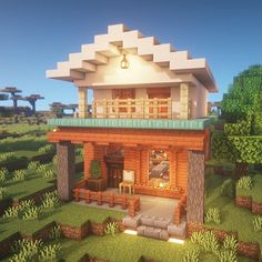 Pin by Serenitiy M on Minecraft Ideen Minecraft World, Plans Minecraft, Modern Minecraft Houses, Minecraft Mansion, Minecraft Houses Blueprints, Minecraft Room, Minecraft House Designs, Minecraft Crafts, Minecraft Buildings