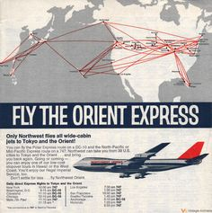 Northwest Orient Airlines Timetable Ad -- Dave Harris