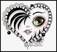 Heart Zentangle by splatterpunked | Paper Crafts Ideas
