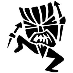 Tiki Man Decal from Decal Fanatic