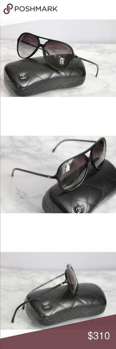 d31ea9dd19133 Chanel Aviator sunglasses NWOT Brand new Chanel CC 5287 Black Pilot Aviator  Sunglasses with Silver Logos