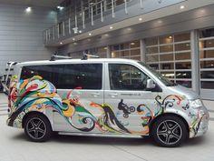 Psychedelic van wrap to promote Volkswagen's Leisure vehicles.