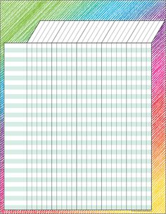 Colorful Scribble Incentive Chart - Convenient, useful learning tools that decorate as they educate! Each chart measures by Related lessons and activities are provided on the back of every chart. Teacher Lesson Planner, Teacher Binder, Preschool Attendance Chart, Reward Chart Template, Teacher Checklist, Printable Graph Paper, Class Displays, Sticker Chart, Classroom Management Strategies