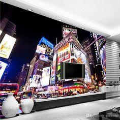 Custom 3d Wall Murals New York Times Square Wallpaper City Photo Wallpaper Boys Kids Room Decor Art Interior Design Bedroom Home Decoration Football Wallpapers Free 3d Desktop Wallpaper From Greenho, $24.92| Dhgate.Com
