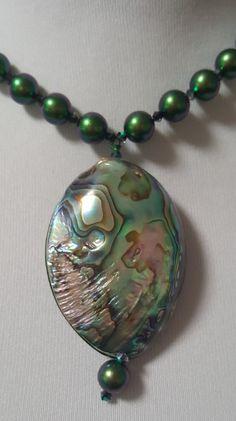 3 Brins Pearl Amethyst Paua Abalone Shell Déclaration Collier