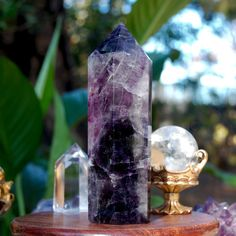 Large Purple Fluorite Crystal Point 11 Ounces! #fluorite #purple #quartz