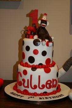 C's first birthday cake