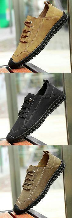 US  27.6  Click to buy  Prelesty Split Leather Shoes Men Casual Genuine Cow  Leather · Чоловіче ВзуттяПовсякденний ... bb28bda0ebcb0