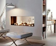 Thrilling Contemporary Decor Industrial Ideas 3 Simple and Modern Tips Can Change Your Life: Contemporary Reception Ideas contemporary garden deco. Home Fireplace, Modern Fireplace, Fireplace Design, Contemporary Fireplaces, Contemporary Bedroom, Contemporary Furniture, Contemporary Architecture, Landscape Architecture, Contemporary Design