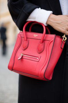c6451cb6404a Red Celine Bag - Gal Meets Glam Celine Luggage