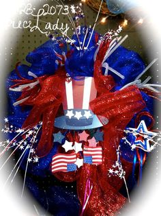 4Th of JULY Wreaths by TheCenterpieceLady on Etsy, $45.00