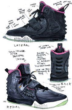 Nike Air Yeezy 2 sketch. Wow.