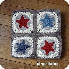 All Star Blanket Motif. Star. Circle. Square.