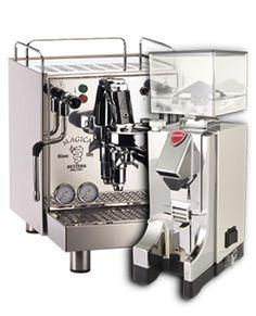 Bezzera Magica S Espressomaschine mit Eureka MCI Espressomühle