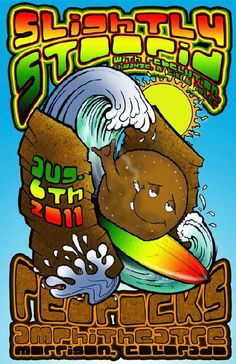 Original concert poster for Slightly Stoopid at Red Rocks in Morrison, CO in 2011.  11x17 card stock. Art by Mark Serlo.
