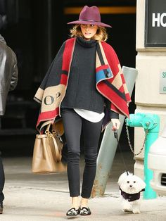 Tip 1. Throw a blanket cape over your layered look. via @WhoWhatWear
