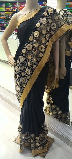 BEAUTIFUL 2D PALLU STYLE DESIGNER SAREE. ONLY 1 PIC IN STOCK. ITEM CODE=GS=75. SAREE FABRIC=GEORGETTE VISCOSE. WORK=MIRROR N LACE WITH RESHAM WORK DESIGNER SAREE. FREE SHIPPING IN INDIA. FOR ORDERS, INQUIRY ,KINDLY MAIL US AT=gloriousfashionpoint@gmail.com OR WHATSAPP NO +91 73591 37568 OR MESSAGE INBOX. PLEASE LOOK AT THE BELOW LINK FOR VIEWING OUR ALL COLLECTION.
