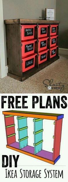 Children's Toybox organizer. Found on facebook