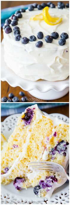 Sally's Baking Addiction Recipe | Delicious Lemon Blueberry Layer Cake!
