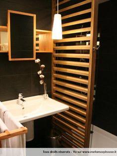 Photos décoration de Salle de bain Moderne/Design Art Déco Noir Ebène Bois Douche italienne de Le Terminus du Forez