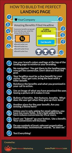How To Build a Better Landing Page http://fleetheratrace.blogspot.co.uk/2014/12/top-10-tips-for-improving-website-conversion.html #conversion #landingpage tips and tricks #conversionrateoptimization #conversionoptimization #infographic