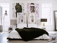 sexy, edgy bedroom. Ryan Korban design.