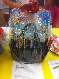 Mini Organizer gift basket for a raffle...cute idea!! by eddie