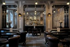 The Connaught hotel bar in London, created by the late AD100 designer David Collins.