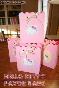 Hello Kitty Party games/ideas and favor bags.