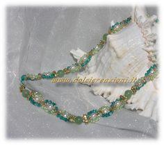 www.dolcicreazioni.it -Girocollo in cristallo Swarovski e giada