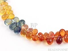 Natural AAA Quality Sapphire Gemstone Multi Color by Beadspoint