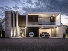 9 Wonderful Cool Ideas: Modern Contemporary Farmhouse contemporary home windows. Modern House Facades, Modern Architecture House, Residential Architecture, Modern House Design, Architecture Design, Amazing Architecture, Facade Design, Exterior Design, Design Design
