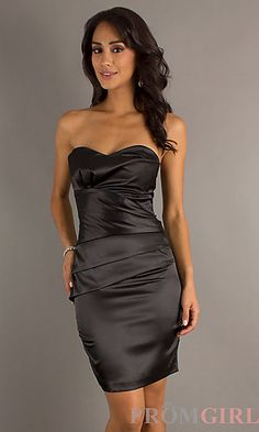 Short Strapless Dress by Atria 6000 at PromGirl.com