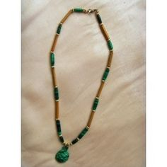 African malachite and genuine bamboo necklace, Malachite, Gemstone Jewelry, Bamboo, Women Jewelry, Beaded Necklace, African, Range, Jewellery, Personalized Items
