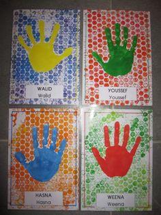 First Day Of School Activities, School Fun, Art School, Crafts For Kids To Make, Fun Crafts, Art For Kids, Hand Kunst, Kindergarten Themes, Hand Art