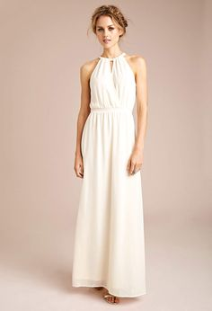 Chiffon Halter Maxi Dress - Dresses - Midi & Maxi - 2000115135 - Forever 21 EU rehearsal dinner/boho