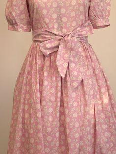 Pretty in Pink ~ Vintage Laura Ashley Dress via Etsy