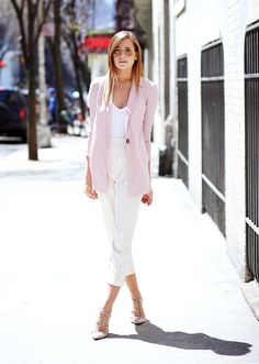 Danielle Bernstein of We Wore What.  Tonal pastels for summ14.