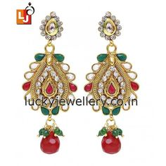 Looking for cool & funky #jewelry accessories for this #monsoon season. Try this beautiful Gold Plated #Earring. Order it now online from #LuckyJewellery  at Rs. 934/- This #wedding season flaunt elegance with this designer earring. #jewellery #fashion #style #ethnic http://ift.tt/29Y6XRr
