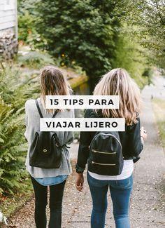 15 tips para viajar ligero
