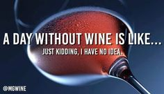 A day without wine is like... Just kidding, I have no idea.