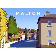 'Malton' Graphic Art East Urban Home Format: No Frame, Size: 40 cm H x 50 cm W x 1 cm D Posters Uk, Railway Posters, Travel Posters, Vintage Posters, Painting Prints, Fine Art Prints, Canvas Prints, Buy Prints, State Art