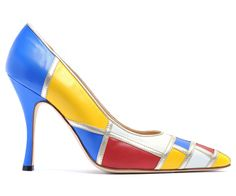 @Manolo Blahnik he is digging in the archives for a show in the spring in Hong Kong are these tribute to painter Mondrian