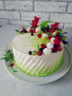 Buttercream Designs, Buttercream Cake, Fondant Cakes, Fancy Desserts, Fancy Cakes, Cupcakes, Cupcake Cakes, Rosette Cake, Cool Cake Designs