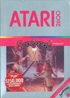 Sword Quest: Fire World for the Atari Vintage Video Games, Classic Video Games, Retro Video Games, Video Game Art, Retro Games, Games Box, Old Games, Ready Player One Book, Atari Video Games